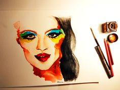 The creative process, illustration. O processo criativo, ilustração.
