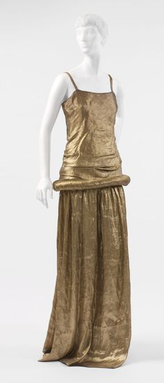 "Irudree Poiret's vision of beauty was also at odds with la garçonne, the feminine archetype of modernism. While Denise Poiret's slender, small-boned figure was the prototype for that boyish silhouette, Poiret dismissed its emphasis on androgyny, describing its followers as ""Cardboard women, with hollow silhouettes, angular shoulders and flat breasts. Cages lacking birds. Hives lacking bees."" Poiret's ideal of beauty still clung to his wife's body type—that is, slight but not bony."
