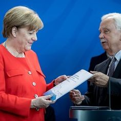 German Chancellor Angela Merkel receives annual report of the National Regulatory Control Council