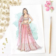The very pretty unveils collection at the styled by 🌸.The very pretty unveils collection at the styled by 🌸 . Fashion Illustration Tutorial, Fashion Illustration Collage, Dress Illustration, Fashion Illustration Dresses, Fashion Collage, Fashion Art, Couple Illustration, Medical Illustration, Fashion Illustrations