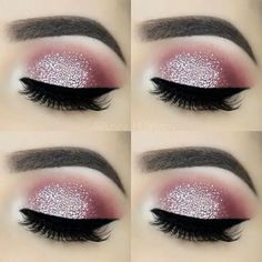 For the love of glitter ✨ – Brows: Eyeko London Brow Game Strong all-in-one br… - Makeup Tips Tutorials Glitter Brows, Glitter Eye Makeup, Eyeshadow Makeup, Drugstore Makeup, Glitter Hair, Loreal Eyeliner, Gray Eyeshadow, Black Eyeliner, Younique Eyeshadow