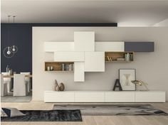 Mueble modular de pared composable lacado SLIM 88 - Dall'Agnese