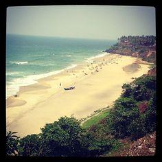 Varkala Beach, Kerala - India.