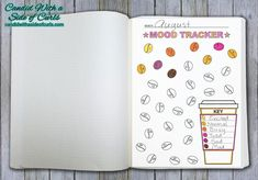 Coffee Bean Monthly Mood Tracker Bullet Journal-Printable Pages February Bullet Journal, Bullet Journal Notes, Bullet Journal Aesthetic, Bullet Journal Ideas Pages, Bullet Journal Layout, Bullet Journal Inspiration, Journal Pages, Journal Notebook, Coffee Bullet