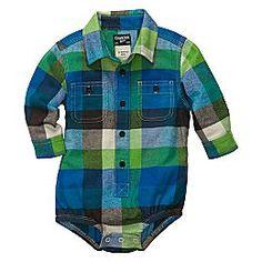 jcpenney | OshKosh B'gosh® Woven Plaid Bodysuit