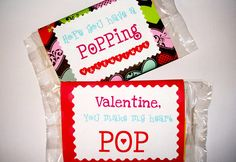 Free Valentine Printable- great idea for school Valentines.