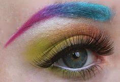 Twelve outrageous and stunning eye makeup designs. #makeup #beauty #fashion #style