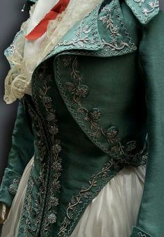 Georgian style ladies jacket based on menswear of the time.