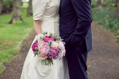 Mixed Peony, Talea Rose and Lambs Ear Hand Tied, @Di Graham @ Roots, Fruits & Flowers - Photography: www.candysnaps.co.uk