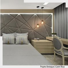 Easy bedroom decor and design ideas - Are you re-decorating your bedroom? Try one of these sleek bedroom design strategies. Just - Salvabrani Hotel Bedroom Decor, Hotel Inspired Bedroom, Master Bedroom Design, Home Bedroom, Modern Bedroom, Bedroom Furniture, Mid Century Bedroom, Headboard Designs, Decoration Design