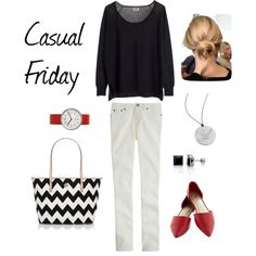 """""""Casual Friday"""" by bluehydrangea on Polyvore"""