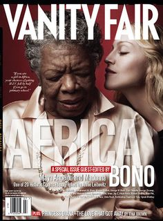 Worked with Annie Leibovitz on Maya Angelou's picture.