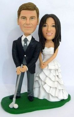 Golfer Custom Wedding Cake Toppers by HoneyMeng on Etsy Personalized Wedding Cake Toppers, All Things, Wedding Cakes, Wedding Ideas, Trending Outfits, Fun, Handmade, Etsy, Fin Fun