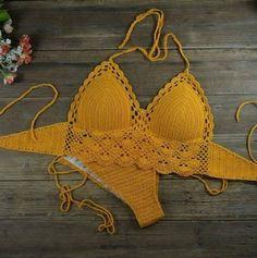 Motif Bikini Crochet, Crochet Bra, Crochet Clothes, Beach Crochet, Knitted Swimsuit, Crochet Bathing Suits, Tops Tejidos A Crochet, Swimsuit Pattern, White Swimsuit