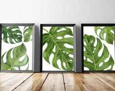 Beach Art Prints, Watercolor Beach Nursery Art, Tropical Palm Leaves Wall Art, Set of 3 Palm Wall Art, Palm Beach Cottage Wall Decor Art Playa grabados acuarela playa vivero arte arte de pared de Leaf Prints, Wall Art Prints, Wall Art Decor, Canvas Prints, Canvas Art, Room Decor, Framed Prints, Tropical Wall Decor, Tropical Design