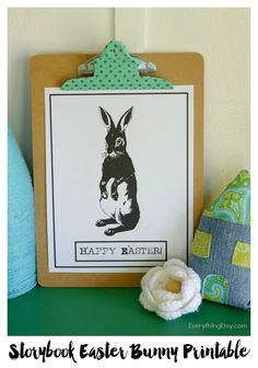Storybook Easter Bunny Printable