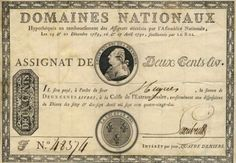 Tales from the Vault: Money of the French Revolution – the Assignat. Example of the first issue of Assignats, this was equivalent to 200 livres French Franc, French Revolution, France, Les Miserables, Vintage Toys, Marie Antoinette, History, Versailles, Reading