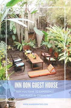 Why you have to experience the Inn Oon Chiang Mai guest house | Thailand travel | Best places in Thailand bucket lists | Best places in Thailand | | Thailand Instagram pictures | Thailand travel tips  | Thailand travel destinations | Thailand travel backpacking | Backpacking Thailand route | #Thailand #ChiangMai #Accommodation #ThailandAccommodation #Backpacking #Travel #BudgetTravel #ThailandGuide #Asia #SouthEastAsia #WanderInTwo