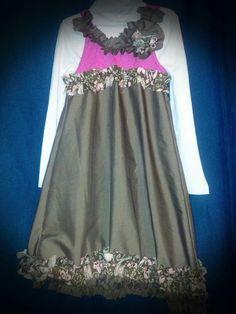 Childrens ruffle tank dress