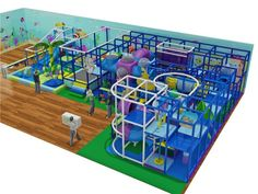 Mid-Sized Ocean Themed Indoor Playground Structure - Indoor Playgrounds International