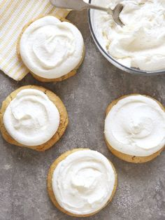 This is the lightest and fluffiest vanilla buttercream frosting. It's perfect for frosting just about anything— cakes, cupcakes, cookies and more! Are you a frosting person? I'm totally a frosting person. What's under the frosting is important too, of course, but I definitely can appreciate a big pile of billowy frosting. And for me that's …