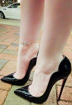 Pink High Heels, Black High Heels, High Heels Stilettos, Womens High Heels, Stiletto Heels, Shoes Heels, Sexy Legs And Heels, Dress And Heels, Thigh High Boots Heels
