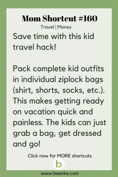 mom hacks Travel and Money Shortcuts The kid travel packing hack! Get your daily source of awesome life hacks and parenting tips! CLICK NOW to discover more Mom Hacks. Girl Life Hacks, Simple Life Hacks, Mom Hacks, Useful Life Hacks, Happy Campers, Kids And Parenting, Parenting Hacks, Travel Money, Packing Tips For Travel