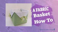 A FABRIC BASKET....How To.... - YouTube Sewing Crafts, Sewing Projects, Cricut Access, Fabric Basket, Sign I, Craft Work, Bag Making, Stitch, Make It Yourself