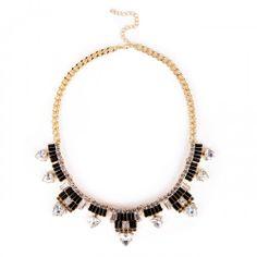 Deco Dagger Necklace  - Black