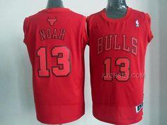 Chicago Bulls #9 Luol Deng Revolution 30 Swingman Red Big Color Jersey