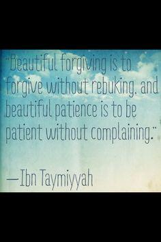 Beautiful words from Shaykh ul Islam Ibn Taymiyyah rahimahullah