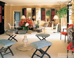 Suite@ The Peninsula Bev Hills by Alessandra Branca, Love the roman garden table and gauffraged velvet from Claremont on the stools