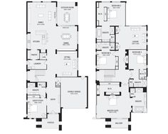 Lindrum 58 New Home Floor Plans Interactive House Plans Metricon Homes Que 5 Bedroom House Plans, House Plans Mansion, New House Plans, Dream House Plans, Double Storey House Plans, Double Story House, Condo Floor Plans, Home Design Floor Plans, Australian House Plans