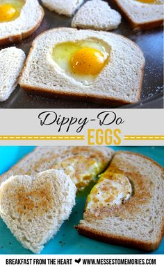 Dippy Do Eggs--a breakfast from the heart from Messes to Memories