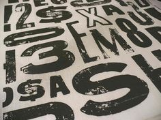 Typography Fabric: to Upholster Chair