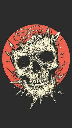 Smile at die. Skull Wallpaper, Dark Wallpaper, Wallpaper Backgrounds, Arte Horror, Horror Art, Wallpapers Geek, Art Sketches, Art Drawings, Psy Art