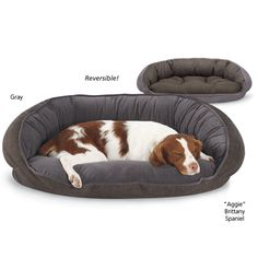 Reversible Crescent Bed - Dog Beds, Dog Harnesses and Collars, Dog Clothes and Gifts for Dog Lovers | In The Company Of Dogs