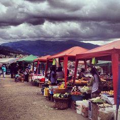 Sunday market in Baños de Cuenca Ecuador