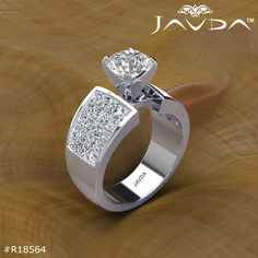 22120a3b1b3d Invisible Classic Sidestone Round Diamond Engagement Ring 14k White Gold  (2.74ctw.)