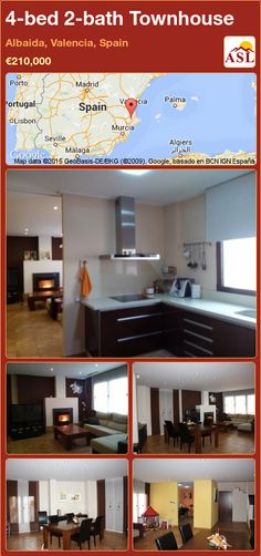 Townhouse for Sale in Albaida, Valencia, Spain with 4 bedrooms, 2 bathrooms - A Spanish Life Murcia, Valencia Spain, Solar Panels, Townhouse, Bathroom, Bed, Modern, Washroom, Trendy Tree