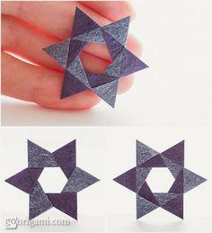 Origami Maniacs: Origami Hex Star by Maria Sinayskaya
