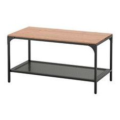 IKEA - FJÄLLBO, Coffee table, , This rustic metal and solid wood coffee table has a shelf for magazines so you always have them close at hand.