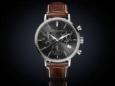 Fromanteel generations horloge chrono antraciet wijzerplaat GS-1202