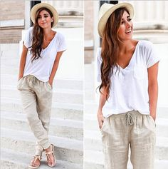 Relax in a Pair of Baggy Pants: They're still pretty breezy but will keep you covered when you're inside.