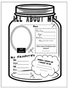 31 Easy and Fun Camping Theme Ideas and Activities - all about me mason jar - Teach Junkie