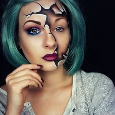 broken doll makeup look