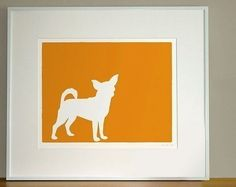 I saw these dog silhouettes on etsy the other day and I'm dying to get one of Cosmo. So cute.