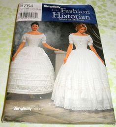 Butterick 4761 Womens Civil War Costume Pattern Skirt