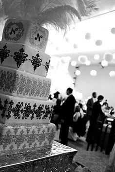Perfect black and white wedding cake!