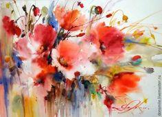 Рисуем шерстью картину «Подарок весны» - Ярмарка Мастеров - ручная работа, handmade
